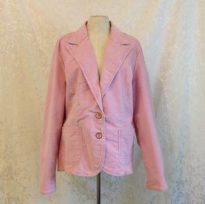 Faded Glory Stretch Pink Corduroy Jacket